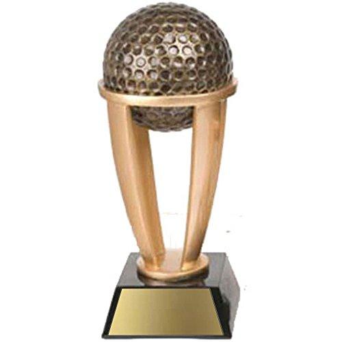 Decade Awards ⛳ Golf Ball Tower Trophy ⛳ Gold Tower Golf Award   13 Inch Tall - Customize ()