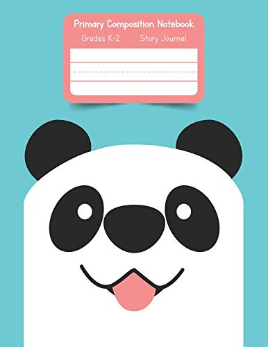 Primary K2 Composition Notebook: For Kids K-2 Grades Story Journal | Picture Space and Dashed Midline Smiling Panda Face Cover ()
