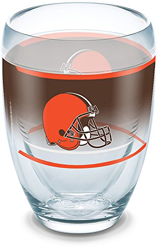 (Tervis 1292816 Cleveland Browns Original Tumbler, 9 oz, Clear)