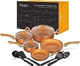 12 pc Cookware Set w/Copper Ceramic