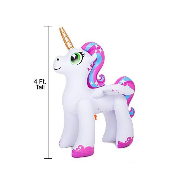 JOYIN Inflatable Unicorn Yard Sprinkler, Alicorn/ Pegasus Lawn Sprinkler for Kids 6