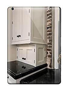 Snap-on Traditional Kitchen With White Cabinets And Brick Walls Case Cover Skin Compatible With Ipad Air