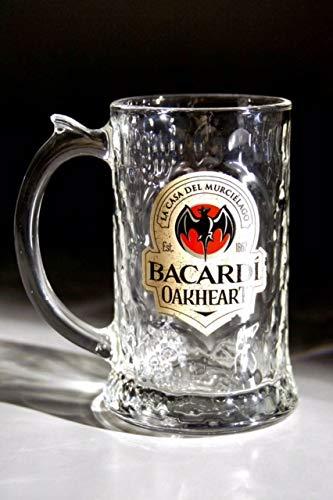 Bacardi Oakheart Rum Tankard Glass 10OZ