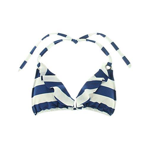 Ralph Lauren Women's Bikini Swimsuit Top, Navy White, Medium