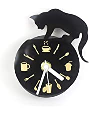Belle Amour Europe Classic Refrigerator Magnet Sheet Metal Drawing Clock