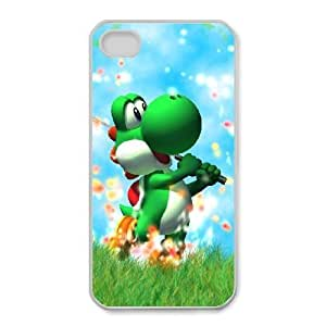 iphone4 4s Cover , Super Smash Bros Yoshi Cell phone case White for iphone4 4s - KS888-125114