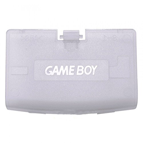 Plastic Battery Cover Door Part for Game Boy Advance GBA Clear Purple Color