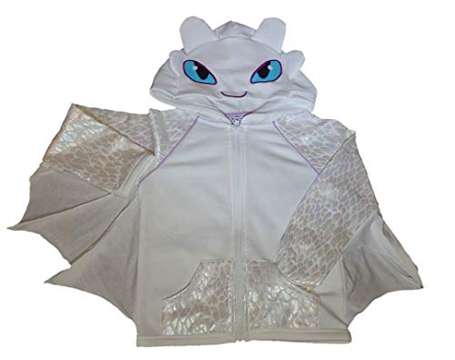 Girls' How to Train Your Dragon Light Fury Costume Hoodie - Ivory (L 10/12) -