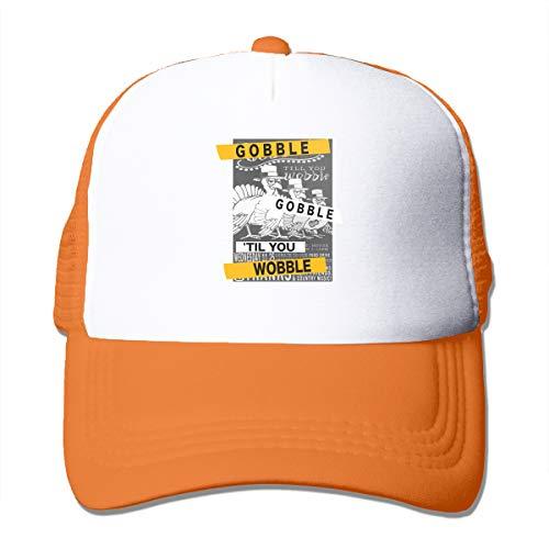 Unisex Gobble 'Til You Wobble Thanksgiving Trucker Cap Suitable for Indoor or Outdoor Activities Orange