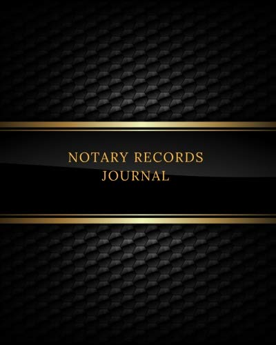 Notary Records Journal: Official Notary Journal| Public Notary Records Book|Notarial acts records events Log|Notary Template| Notary Receipt Book - Paperback
