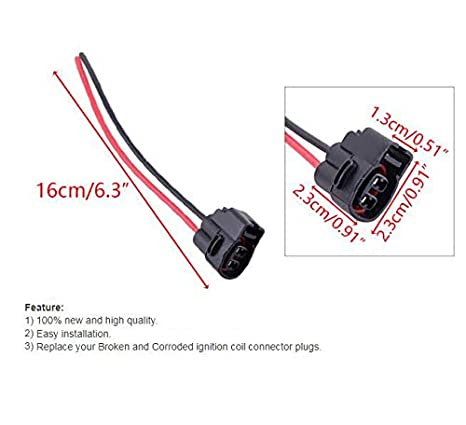 1PCS Motoparty Ignition Coil Connector Pigtail Plug Harness Fit For Toyota 4Runner Camry Celica Pickup MR2 T100 Lexus IS300 SC300 GS300 LS400 SC400 90980-11246