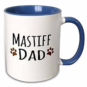 3dRose 153948_6 Mastiff Dog Dad Mug, 11 oz, Brown 41