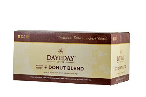 Day to Day Donut Blend Single Serve Coffee Cups, Fits Keurig K Cup Brewers, Box of 120 (03923)