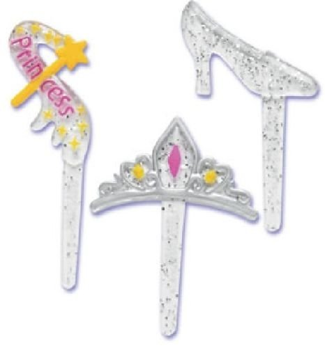 Party Slipper Crown Wand (12) Cupcake Cake Pops Topper Decor Pics Picks ()