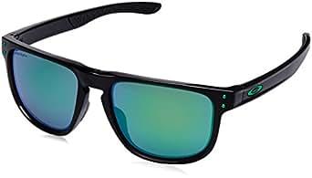 Oakley Men's Holbrook R Polarized Iridium Square Sunglasses, Polished Black, 55.0 mm