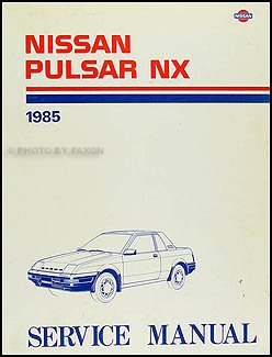 1985 nissan pulsar nx repair shop manual original nissan amazon rh amazon com 1986 Nissan Pulsar NX Turbo 1982 Nissan Pulsar NX