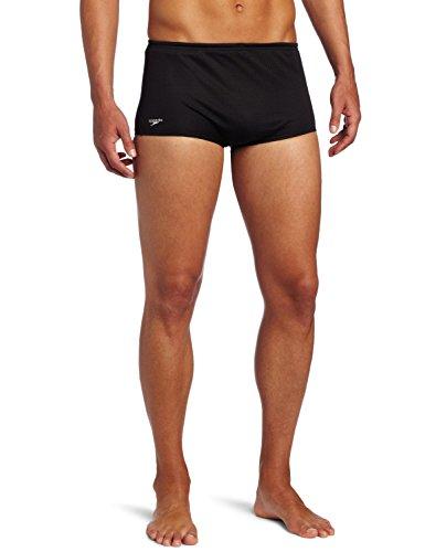 Speedo Men's Team Collection Bulldog Mesh Drag Swimsuit, Black, 38