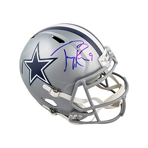 (Tony Romo Autographed Dallas Cowboys Speed Full-Size Football Helmet - BAS COA)