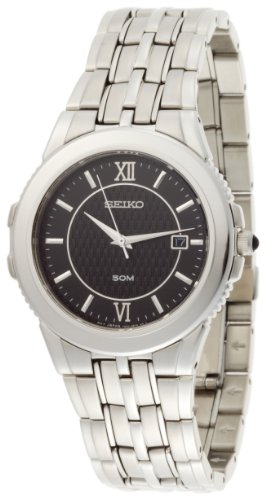 Seiko Men's SKK637 Le Grand Sport Silver-Tone Watch