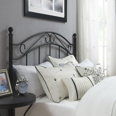 Black Bed Headboard- Fits Full or Queen Bed Frames by Mainstays by Mainstay