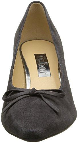 Gabor Shoes Basic, Zapatos de Tacón Para Mujer Gris (Dark-Grey 19)