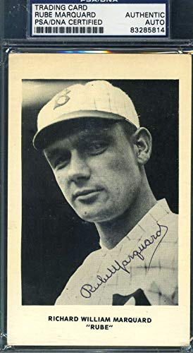 RUBE MARQUARD PSA DNA Autograph Photo Postcard Authentic Hand Signed from KHW HALL OF FAME GALLERY