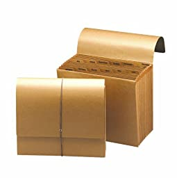 Smead Expanding File, Monthly (Jan.-Dec.), 12 Pockets, Flap and Cord Closure, Letter Size, Kraft (70186)