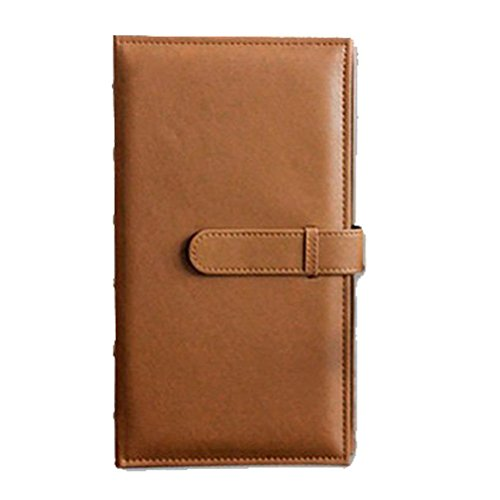 Forusky 300 Pockets PU Leather 5 Inch Photo Instax Album Book for Fuji Instax Wide 300, Wide 210, FP 3000B, FP100C Films - Brown
