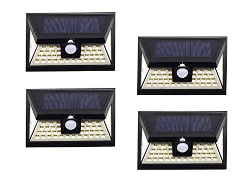 ShinEn Enhanced Version 46 LED Solar Camping Lights, 3 Optional Modes Wireless Motion Sensor, Waterproof, Easy-to-Install Perfect for Camping, Travel and Garage (4 Pack)