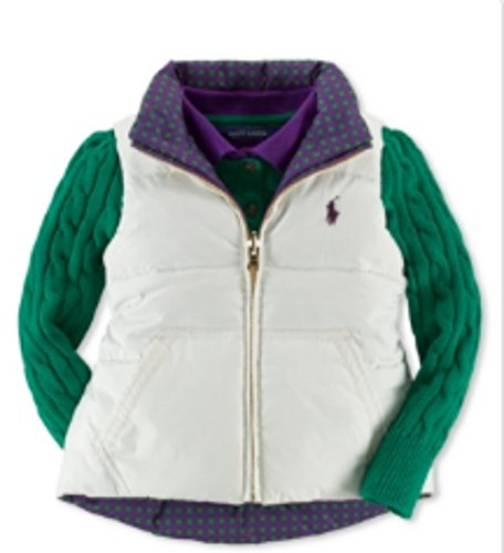 (Ralph Lauren Down-and-Feather Reversible Vest Girls' Size 6)
