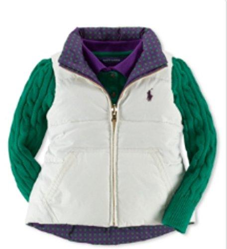Ralph Lauren Down-and-Feather Reversible Vest Girls' Size 6 by RALPH LAUREN