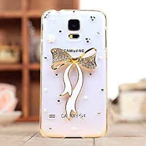 PEACH Diamond Ribbon Back Cover Case for SAMSUNG Galaxy S5 I9600(Assorted Colors)
