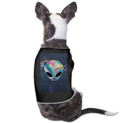 Dog Pet Clothes,Alien Face Printed Shirt for Small Dog Medium Dog Or -