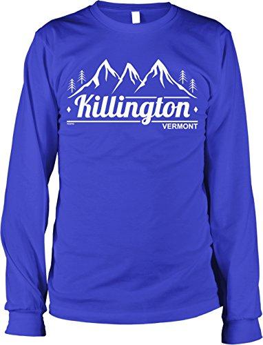 (NOFO Clothing Co Killington, Vermont Men's Long Sleeve Shirt, XXXL Royal)