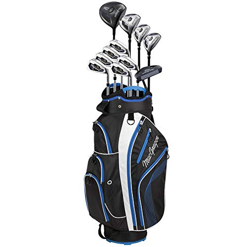 MacGregor DCT2000 Premium Mens 1 Inch Longer Golf Package Set with Titanium Driver and Stainless Clubs, Graphite/Steel Shaft - Regular Flex