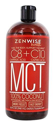 Zenwise Health, Caprylic  + Capric  MCT Oil, 100% Coconut, U