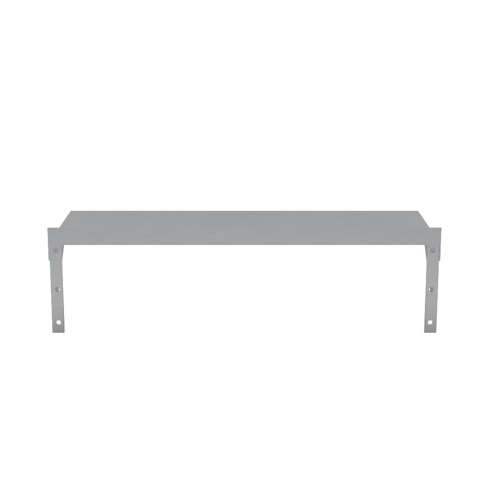 Elkay Professional Series NSF Stainless Steel Wall Shelf with Backsplash without Mounting Hardware, 24'' x 12'' by Elkay Foodservice (Image #2)