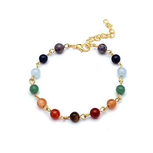 Sedmart Chakra Rainbow Bracelet Fathers