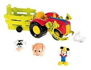 Fisher Price X4985 - Tractor con figuras de Mickey y animales