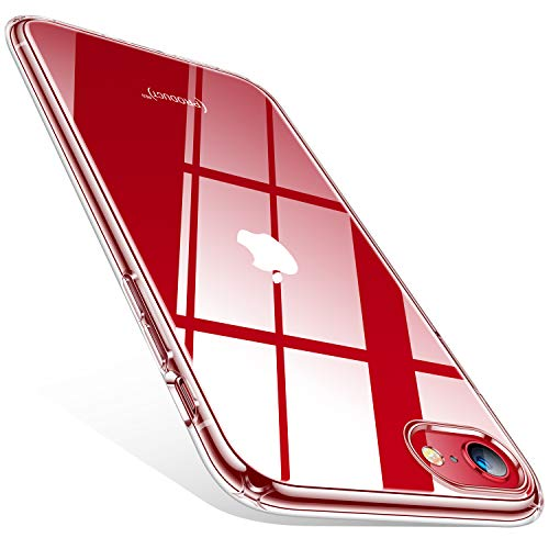 TORRAS Crystal Clear Compatible for iPhone SE 2020 Case & iPhone 8 Case [Non-Yellowing] Shockproof Transparent Slim Soft…