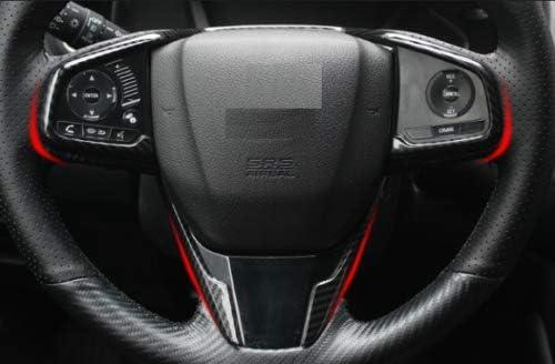 3PCS Carbon Fiber Style Interior Steering Wheel Trim For Honda CIVIC 2016-2018
