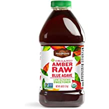 Madhava Naturally Sweet Organic Blue Agave Low-Glycemic Sweetener, Amber Raw, 46 Ounce (Pack of 2)