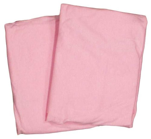 Cradle 2 Pack Value Jersey Pink Fitted Sheet