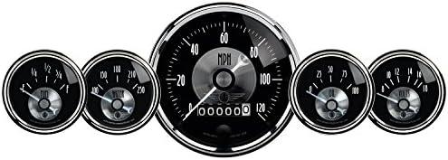 5 Piece Auto Meter 2003 Prestige Black Diamond Wheel Odometer Gauge