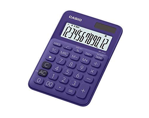 Casio MS-20UC-PL Colorful Calculator MS20UC Purple