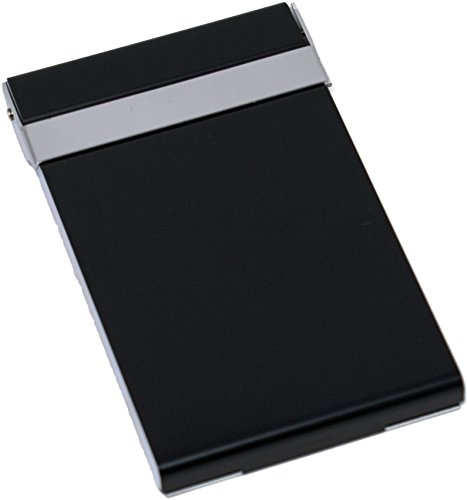 d Gunmetal Business Card Holder (Metallic Business Card Case)