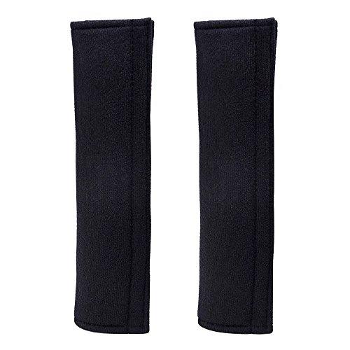 eBoot 1 Pair Car Seat Belt Strap Covers Shoulder Pad (Black)