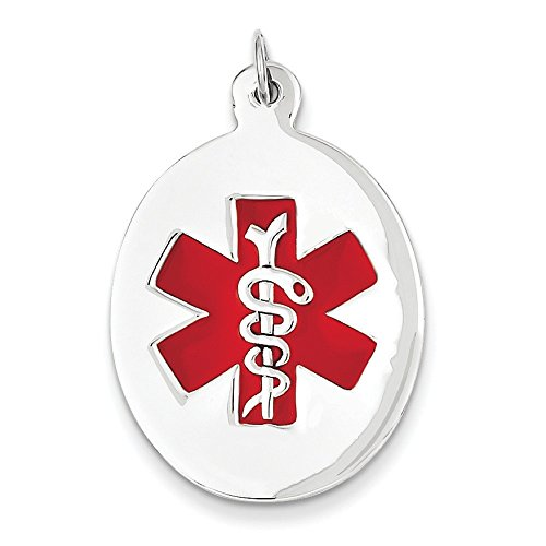Or blanc 14carats Medical Jewelry Pendentif
