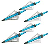 NuoYa001 Blue Arrowhead 3-blades aftershock hunting Archery Broadheads Cut 100 Grain