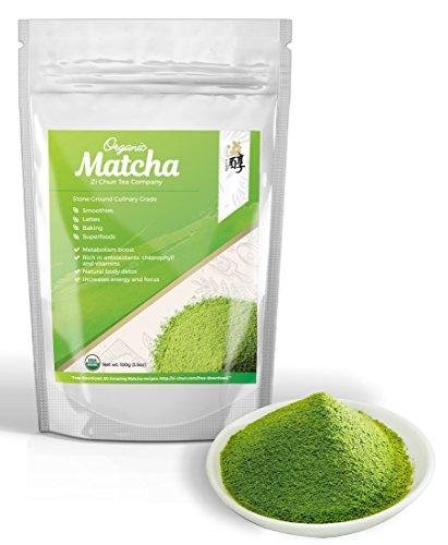 Matcha Green Tea Powder - Certified Organic Matcha - Culinary Grade : Natural Green Mix Powder for the perfect Green Tea Latte or Smoothie - Natural Antioxidant Powder and Green Superfood Antioxidant